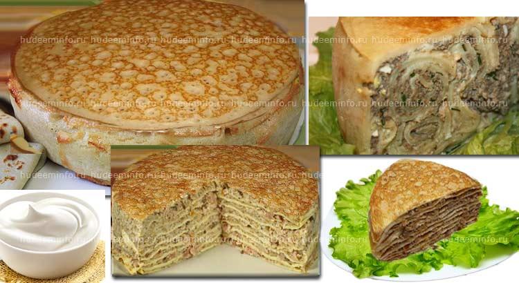 Блинный пирог при похудении